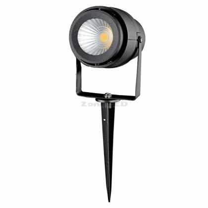 12W LED GARDEN LAMP GREEN BLACK BODY