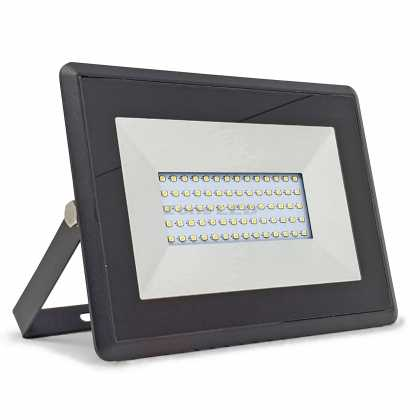 50W LED Floodlight SMD E-Series Black Body 3000K