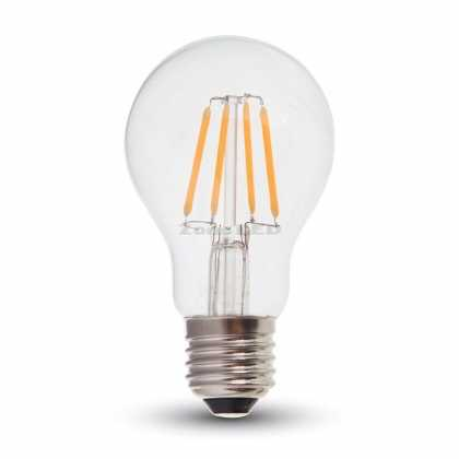 6W A60 LED Filament Birne  Transparent mit SAMSUNG Chip 2700K E27