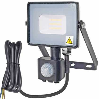20W LED Sensor Floodlight With SAMSUNG Chip Black Body SMD 6400K
