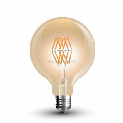 LED Bulb - 8W Filament  E27 G95 Amber 2200K - NEW