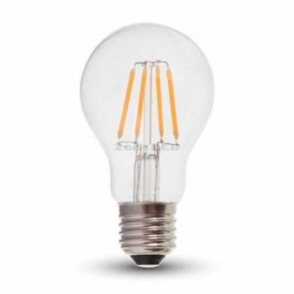 LED Bulb - 4W Filament E27 A60 Clear Cover 4000K - NEW