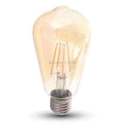 LED Bulb - 8W E27 Filament Amber Cover ST64 2200K