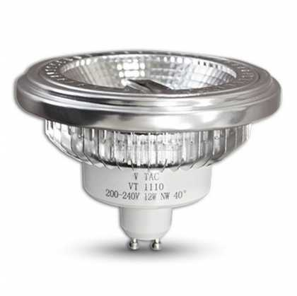 LED Spotlight - AR111 12W GU10 Beam 40 COB Chip 6000K