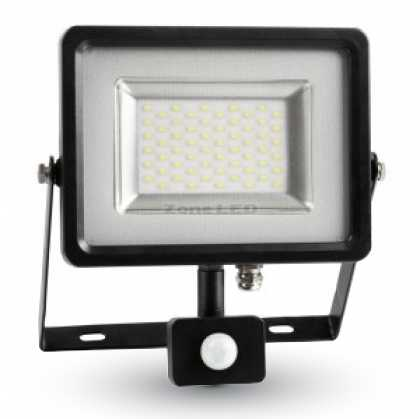 30W LED Sensor Floodlight Black/Grey Body SMD 3000K