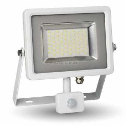30W LED SMD Floodlight Sensor White Body 6000K