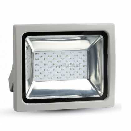30W LED Floodlight RGB With RF Remote Grey Body SMD
