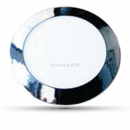 24W LED SLIM PANEL LIGHT-CHROME COLORCODE:6000K ROUND