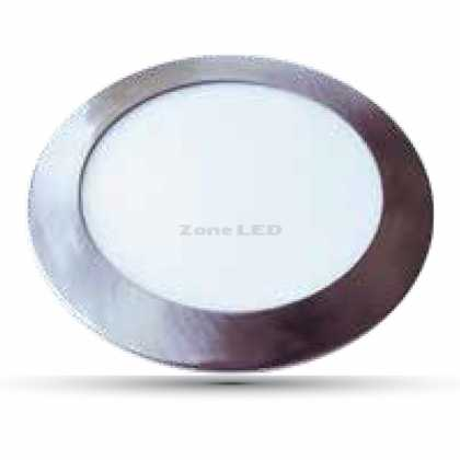 24W Led Slim Panel  Satin Nickel 4500K Rund