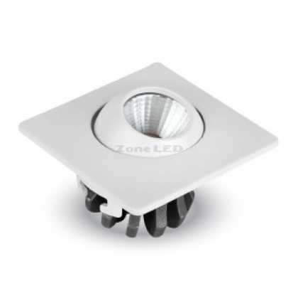 3W LED Einbaustrahler With Moving Head Quadrat Weiss-Licht 6400K