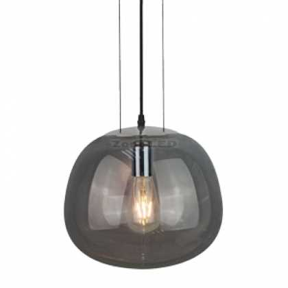 MODERN GLASS-GUN GREY-3 WIRE SUSPENSION  PENDANT LIGHT D:290