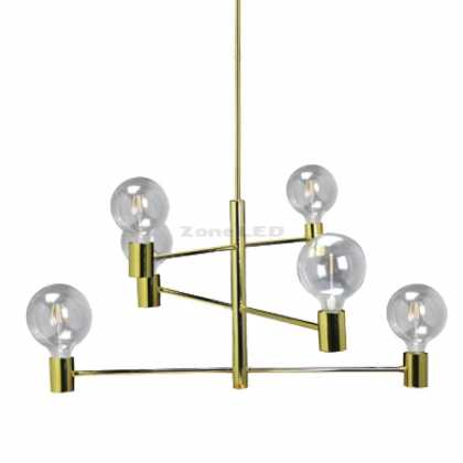 MODERN 6 BULB CHANDELIER-MOVABLE D:400