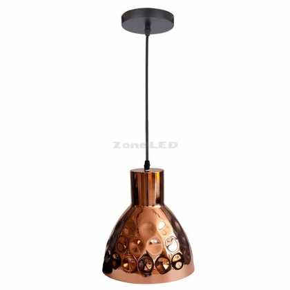 Rose Gold Pendant Light Holder ф220 conus form Electric Copper Paint