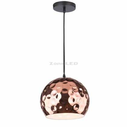 Rose Gold Pendant Light Holder ф250 Sphere form