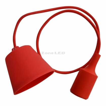 E27 Pendant Holder Red