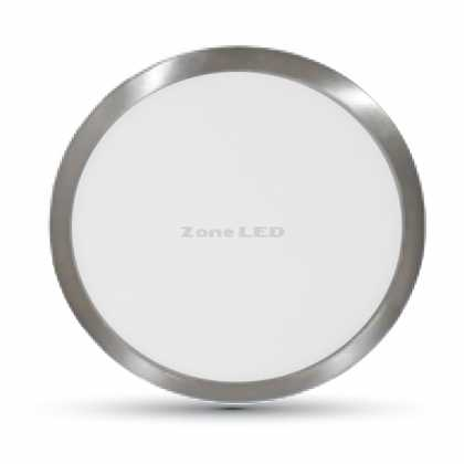 18W LED SURFACE PANEL LIGHT-SATIN NICKEL COLORCODE:6000K ROUND
