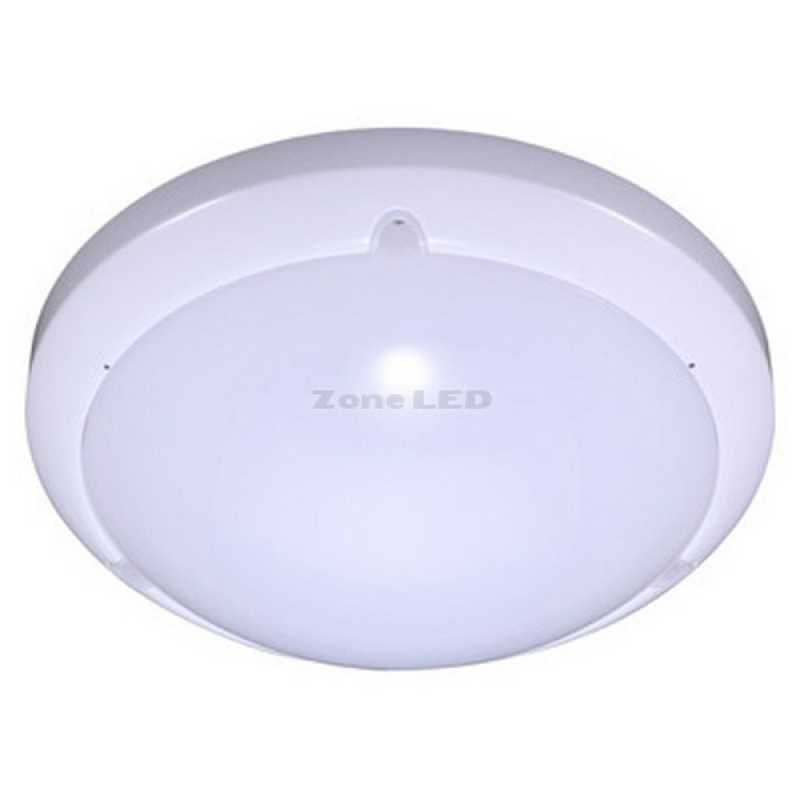 16w Dome Led Light With Sensor Microwave White