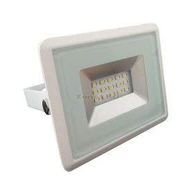 10W LED Floodlight SMD E-Series White Body 4000K