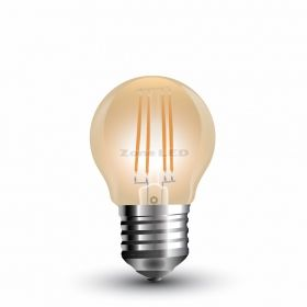 LED Bulb - 4W Filament  E27 G45 Amber Cover 2200K